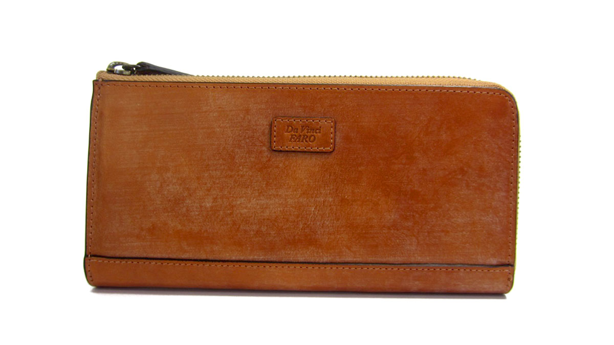 BRIDLE leather Slim Zip Wallet | Da Vinci FARO