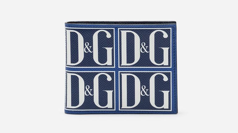 ビフォールドウォレット DAUPHINEカーフスキン DGロゴプリント DOLCE & GABBANA