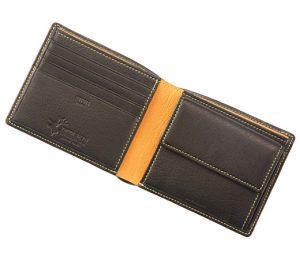 キプリス鹿革二つ折り財布