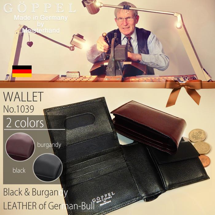 メンズ財布 二つ折り財布 GOPPEL