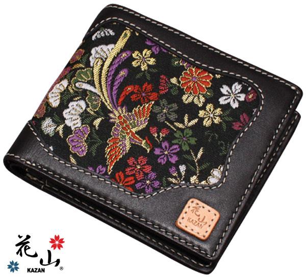 メンズ財布 和柄 花山