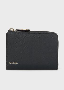 メンズ財布 二つ折り財布 ファスナー