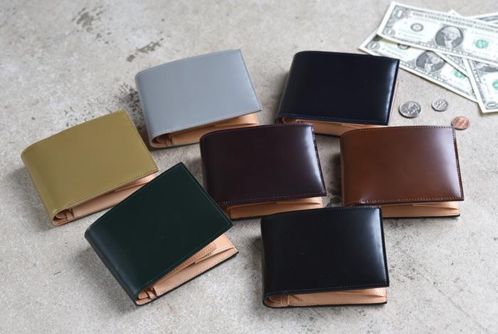 フライングホース コードバンレザー二つ折り財布